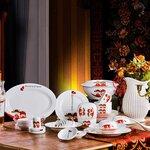 结婚纪念陶瓷礼品定做厂家,婚庆礼品餐具套装定制