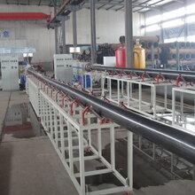 金冠90超高分子聚乙烯托輥管材擠出機生產線