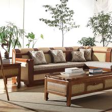 黑龙江藤家具沙发客厅藤编组合沙发印尼真藤沙发五件套