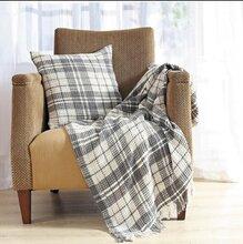 色织水洗华夫格毯子图片
