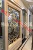 优质生产商中式古铜镂空花格铝雕花屏风