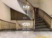 北京定制K金鋁藝樓梯銅樓梯扶手設計