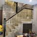 新疆定制輕奢鋁藝樓梯銅樓梯扶手