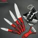 德国厨房刀具珠光喷漆空心红色柄陶瓷刀水果刀六件套装3456寸