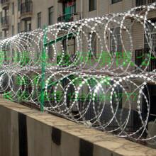 不锈钢刀片刺绳护栏网防盗防攀爬安全刺绳安全防护网河北瑞迪丝网厂家直销