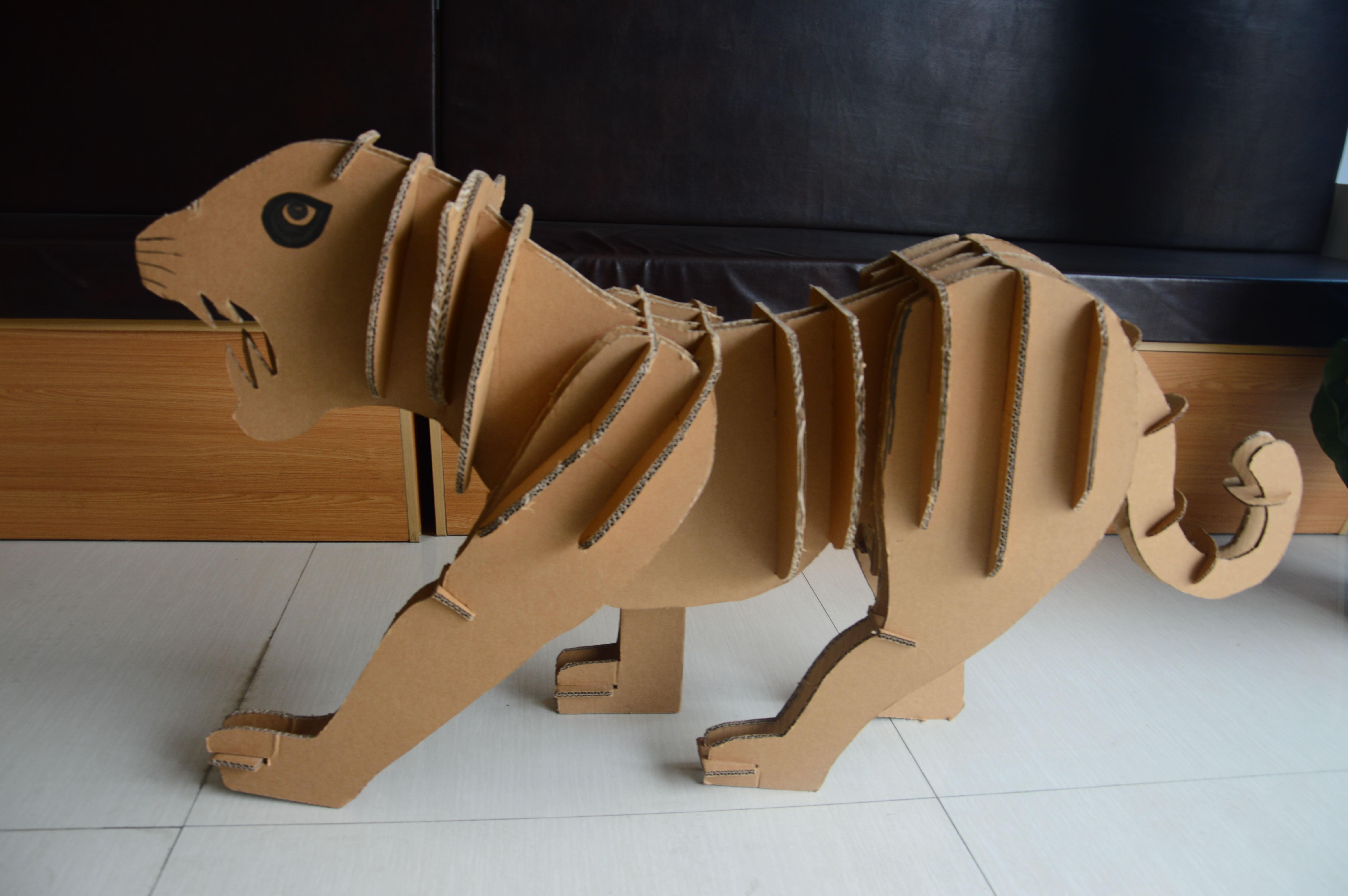 瓦楞纸促销立体拼图手工纸家具模