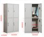 毕节彩色十八门防水钢制更衣柜固彩gc-06工厂员工柜