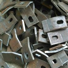 轨道焊接钢板压板43kg/m焊接波形压板S型轨道压板厂家图片