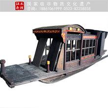 厂家定制6米嘉兴南湖红船仿古纪念船博物馆景观装饰展览船图片