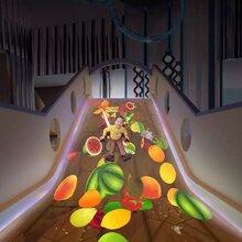 神童乐园互动投影地面游戏,淘气堡最新项目投影互动魔幻滑梯