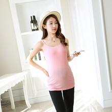 新款上市厂家现货莫代尔大码孕妇打底衫免文胸孕妇哺乳吊带罩杯一体式孕妇吊带图片