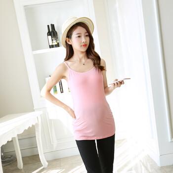 新款上市厂家现货莫代尔大码孕妇打底衫免文胸孕妇哺乳吊带罩杯一体式孕妇吊带