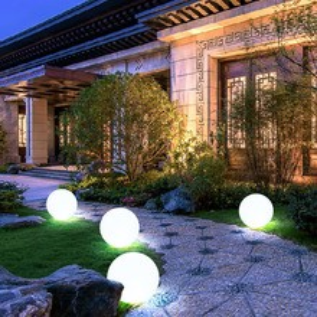 LED发光球圆球灯防水草坪灯充电户外落地灯遥控游泳池庭院灯