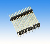 1.27mm间距排针双排双塑SMT排针连接器