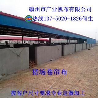 现代养殖场设备厂家上饶专业定制保温猪场卷帘布牛场卷帘布图片3