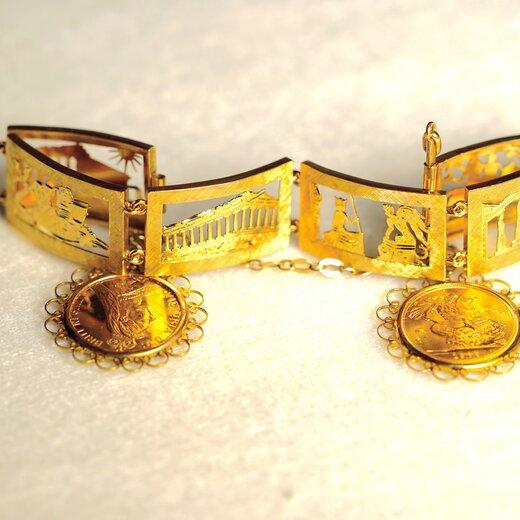 英女皇骑士章古建筑人物纪念手环