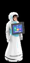 浙江杭州萧山区智慧供电营业厅业务讲解迎宾机器人图片