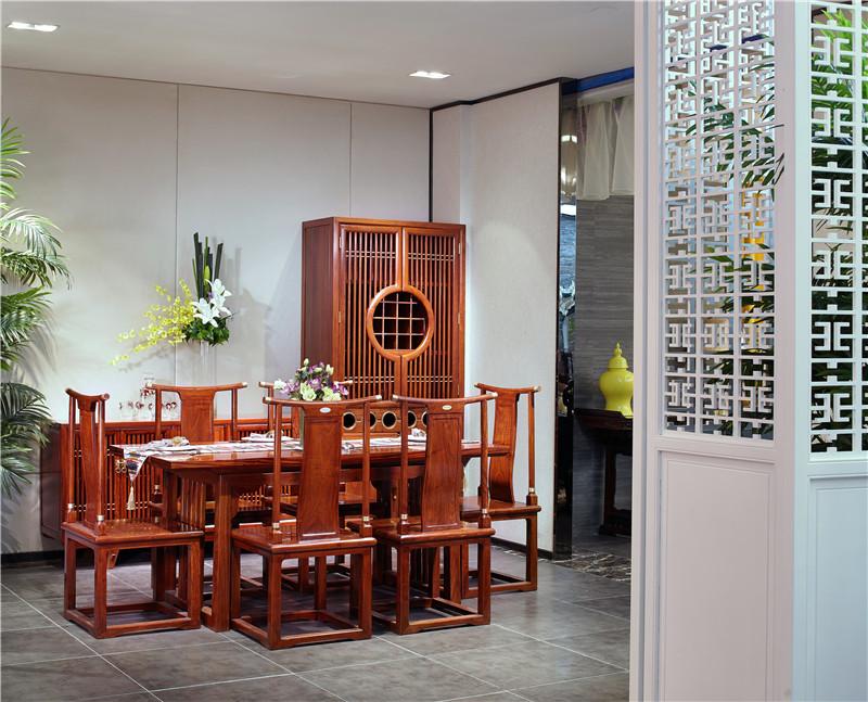 新中式餐桌墙酒柜