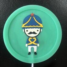 工厂定制pvc杯垫环保软胶杯垫广告礼品硅胶杯垫图片