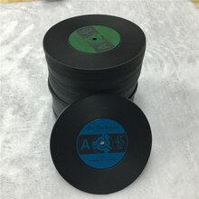 厂家订做pvc软胶杯垫CD复古唱片杯垫黑胶留声机光盘杯垫图片