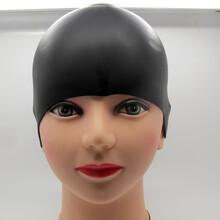 爆款专业硅胶泳帽可定制LOGO防水护耳男女通用图片