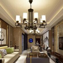 北欧创意个性灯具铁艺吸顶灯现代简约大气客厅灯家用卧室灯图片