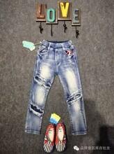 贝贝风牛仔裤品牌童装折扣货源批发