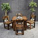 沉船木茶桌椅组合中式功夫茶桌茶几阳台小型茶台