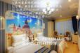 惠州巽寮湾地中海风格酒店商务标间定制家具单人床妆台休闲椅