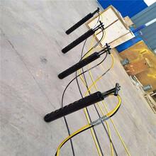 大型机载式液压劈石机天津静海施工案例图片