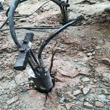 荒料岩石破碎静态爆破开挖石方机械黑龙江绥化施工方案图片