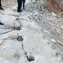 荒料岩石破碎静态爆破开挖石方机械甘肃平凉售后教学图片