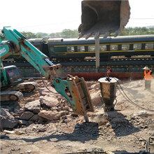 地铁破裂石头不损坏基础岩石广东潮州施工案例图片
