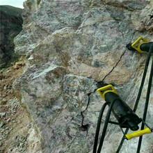 高硬度花岗岩采石场劈裂机广西河池批发价格图片