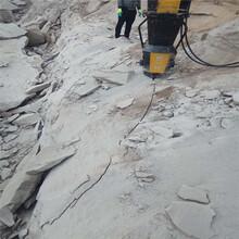 石头坚硬开采不出来就用劈裂机西藏山南售后教学图片