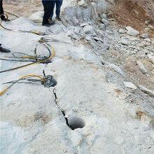 地下商場挖石頭用液壓劈裂棒陜西旬陽二手供應圖片