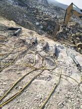 内蒙古克什克腾旗岩石分裂机需要几个人操作使用不易损坏图片