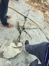 赤峰阿魯科爾沁旗礦山開采氣體膨脹液壓開石機指導報價圖片