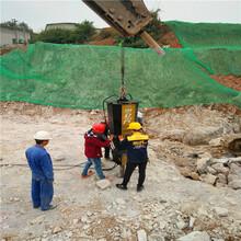 保定望都公路扩建遇到硬石头钩机打不动挖改式破碎机哪家好矿山开采图片