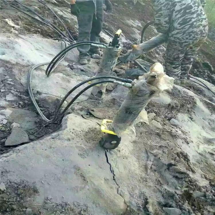 金华浦江静态液压劈裂棒快速破裂岩石一天产量平场地