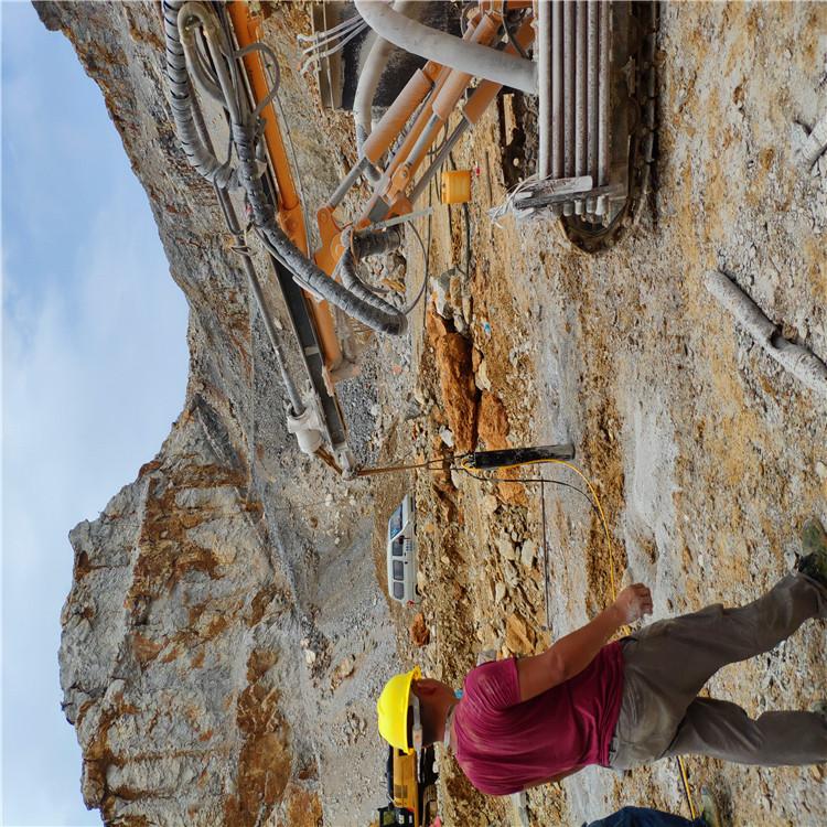 宝鸡岐山挖孔桩破石头机器开采投资