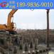 一体式防汛打桩机,挖掘机打桩机低价出售