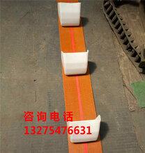 無外殼斗提皮帶加塑料斗傾斜使用小塊顆粒瓦斗提升機圖片