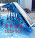 萧县食品包装PVC带输送机升降调节半挂车物料输送机经久耐用