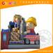充气滑梯厂家价格全优能供应15x6.7x9.2m搬运工充气滑梯儿童游乐淘气堡支持定制