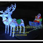 led雪耗造型灯,鹿拉车led圣诞节用造型灯图片