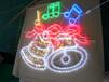 节日亮化造型灯,铃铛造型灯,鹿拉车艺术造型灯