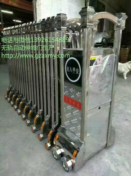 伸缩门价格,无轨电动伸缩门订做,不锈钢自动伸缩门厂家-奥兴门业