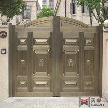 西安厂家直销铜木门_宝鸡院子铜门定制_榆林木纹铜门设计_铸铝门定制图片