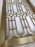 售楼部玫瑰金不锈钢屏风背景生产厂家定制